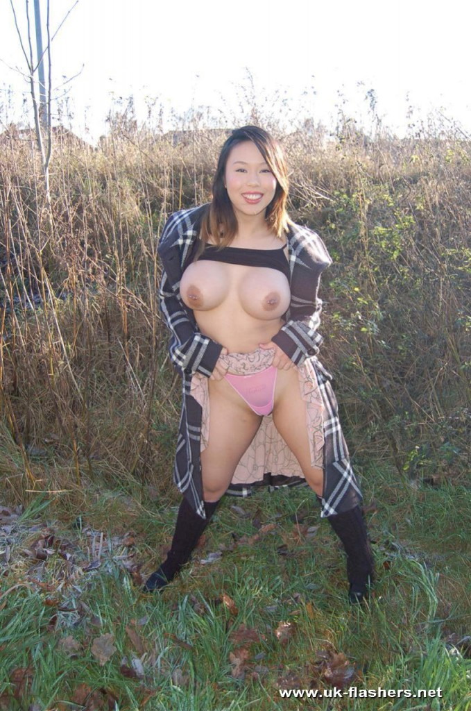 Outdoors asian amateur nude girls