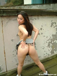 asian street flasher