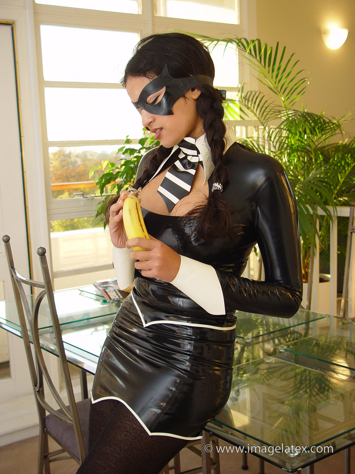 Asian Beauty in Latex